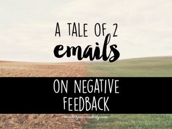On negative feedback